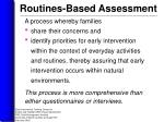 routines based assessment