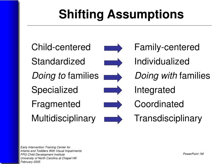 Child-centered       	      Family-centered