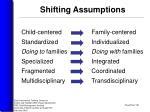 shifting assumptions