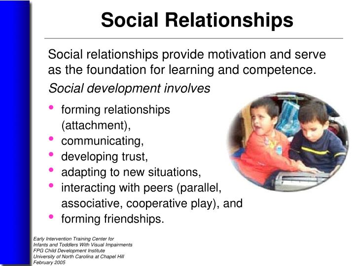 Social development involves