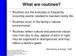 what are routines