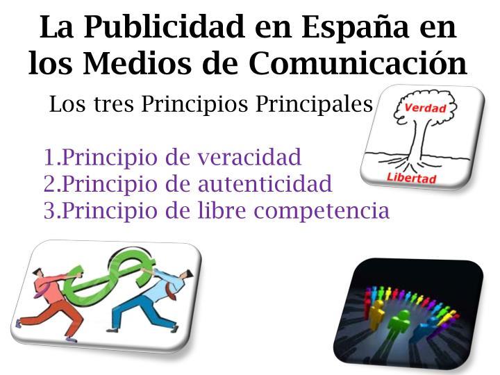 La Publicidad en España en los Medios de Comunicación