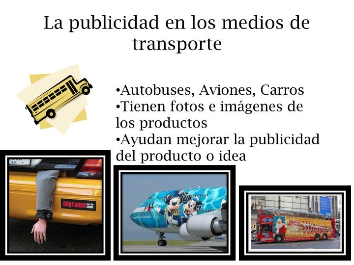 La publicidad en los medios de transporte
