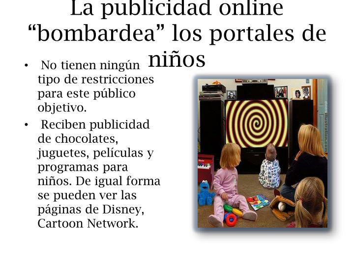 """La publicidad online """"bombardea"""" los portales de niños"""