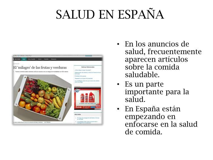 SALUD EN ESPAÑA