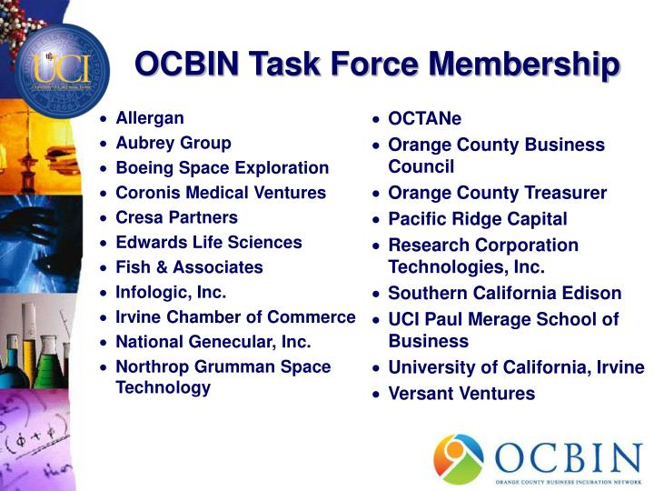 Ocbin task force membership