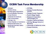 ocbin task force membership