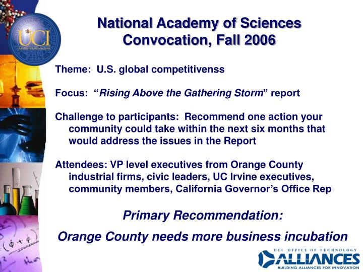 National Academy of Sciences Convocation, Fall 2006