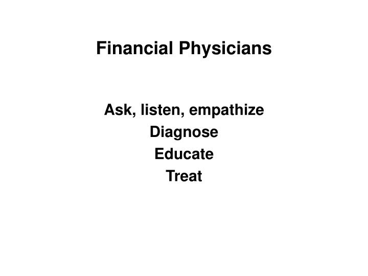 Financial Physicians