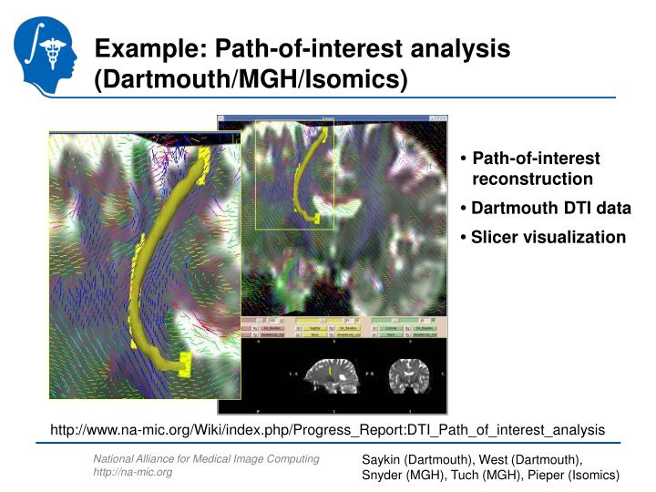 Example: Path-of-interest analysis (Dartmouth/MGH/Isomics)