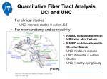 quantitative fiber tract analysis uci and unc