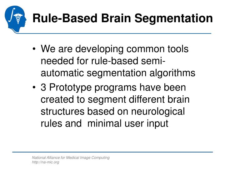 Rule-Based Brain Segmentation