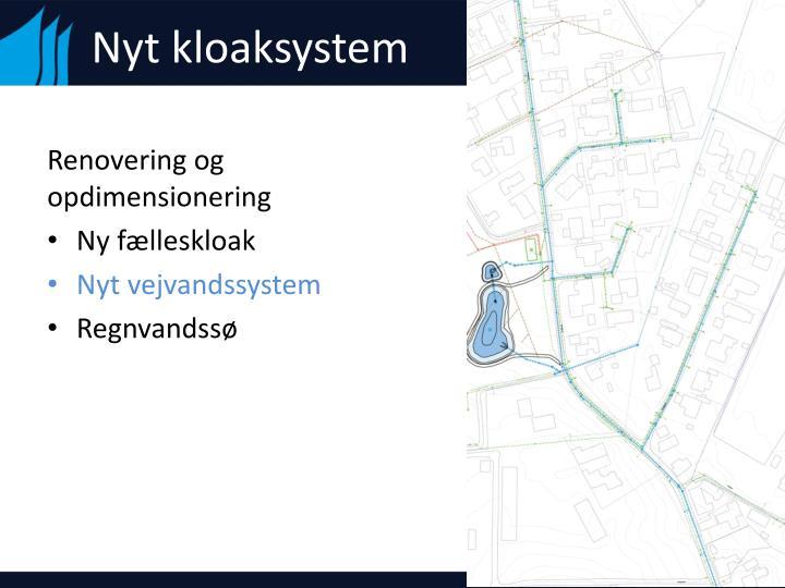 Nyt kloaksystem