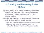 1 creating and releasing socket buffers3
