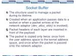 socket buffer