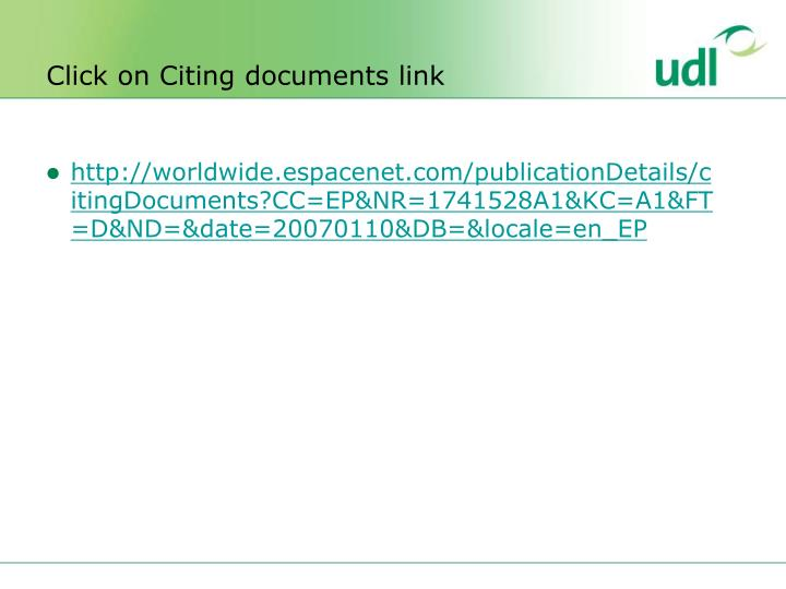 Click on Citing documents link