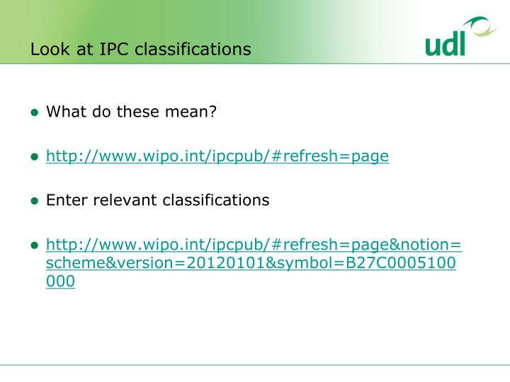Look at IPC classifications