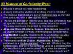 5 mistrust of christianity west
