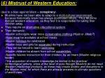6 mistrust of western education