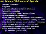 a islamist multicultural agenda