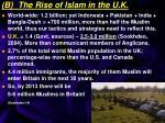 b the rise of islam in the u k