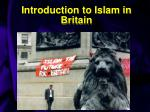 introduction to islam in britain