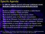 specific agenda