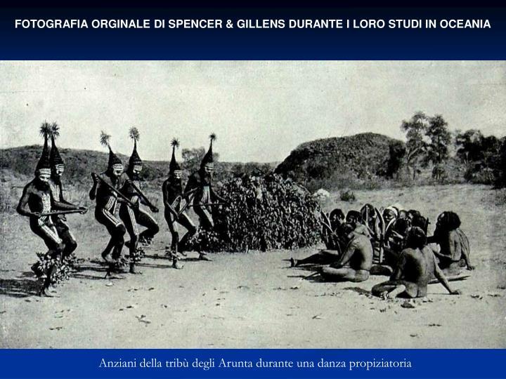 FOTOGRAFIA ORGINALE DI SPENCER & GILLENS DURANTE I LORO STUDI IN OCEANIA