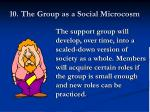 10 the group as a social microcosm