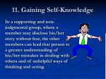 11 gaining self knowledge