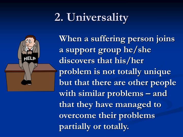 2. Universality