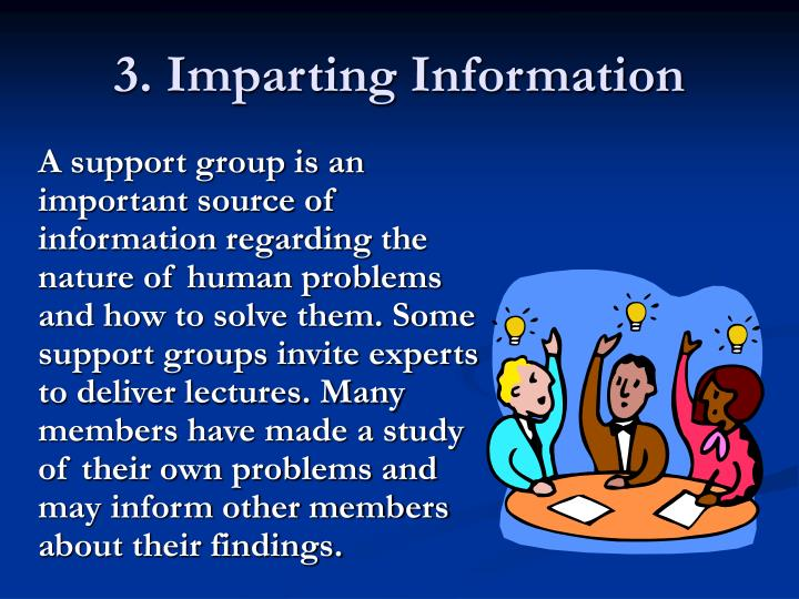 3. Imparting Information