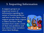 3 imparting information