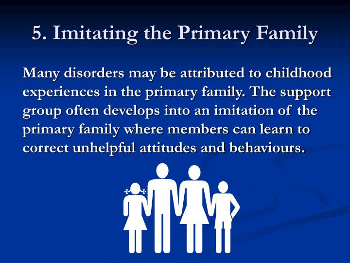 5. Imitating the Primary Family