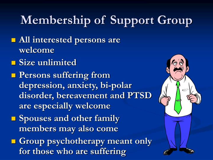 Membership of Support Group