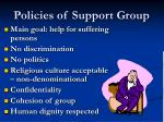 policies of support group