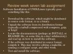 review week seven lab assignment15