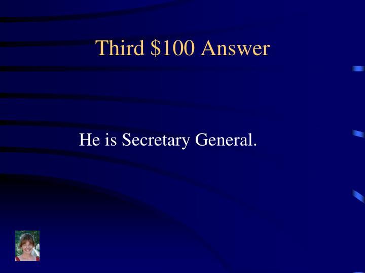 Third $100 Answer