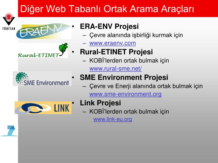 Diğer Web Tabanlı Ortak Arama Araçları