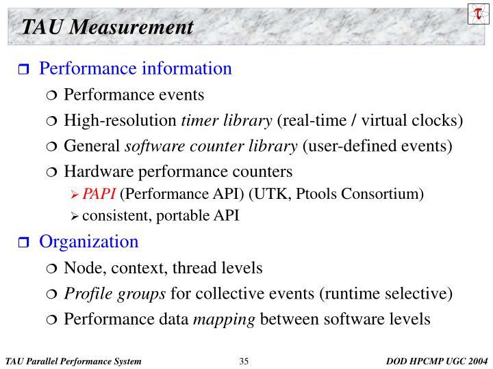 TAU Measurement