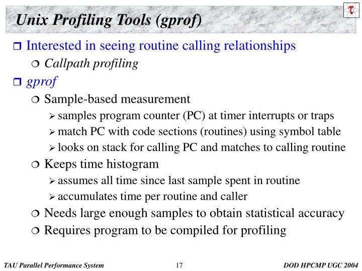 Unix Profiling Tools (gprof)