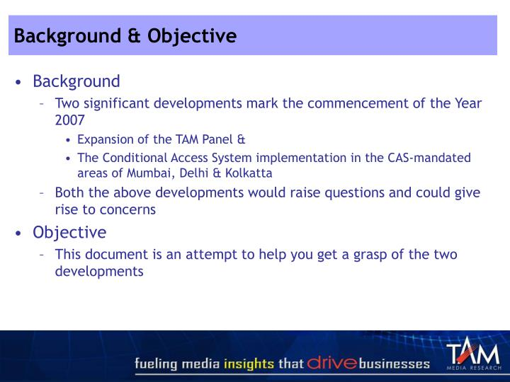Background & Objective