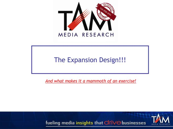 The Expansion Design!!!
