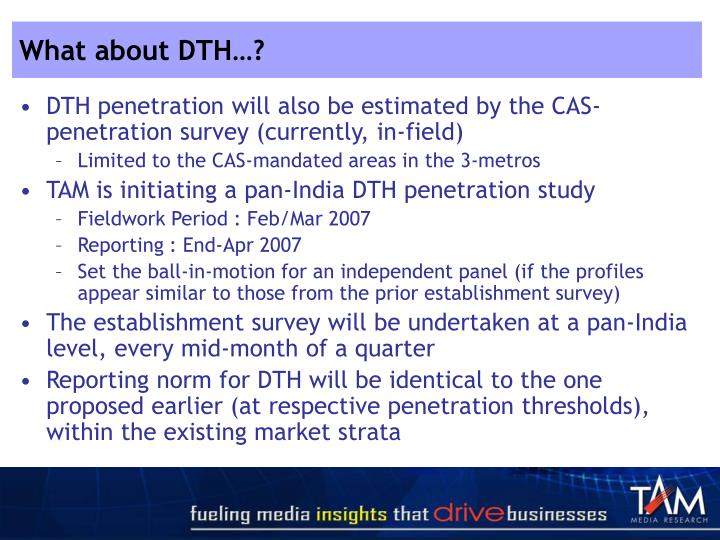 What about DTH…?