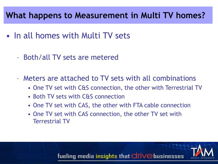 What happens to Measurement in Multi TV homes?