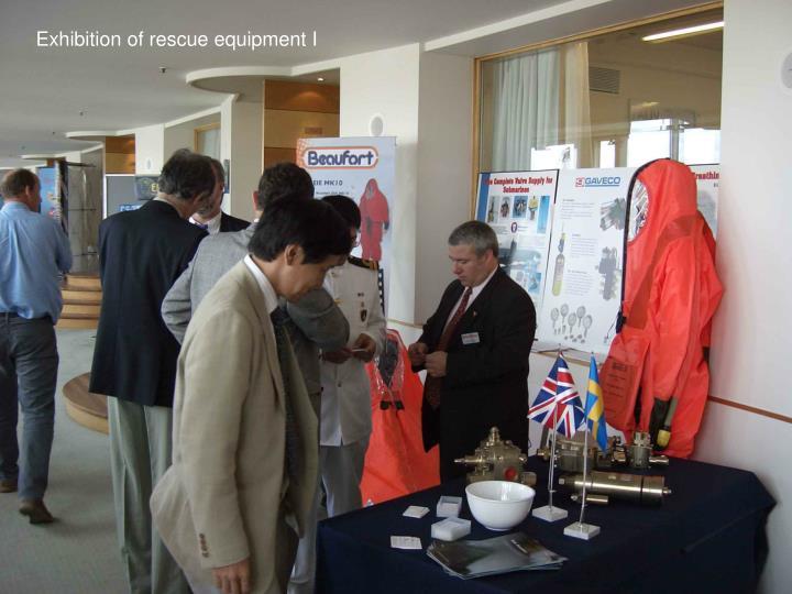 Exhibition of rescue equipment I