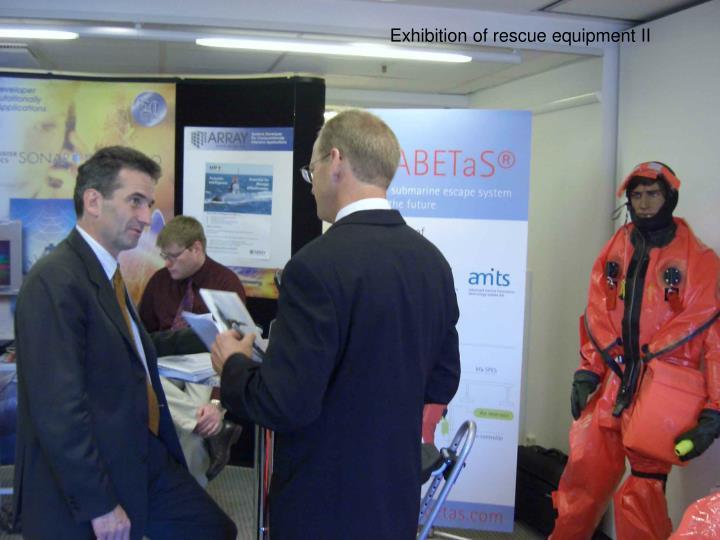 Exhibition of rescue equipment II