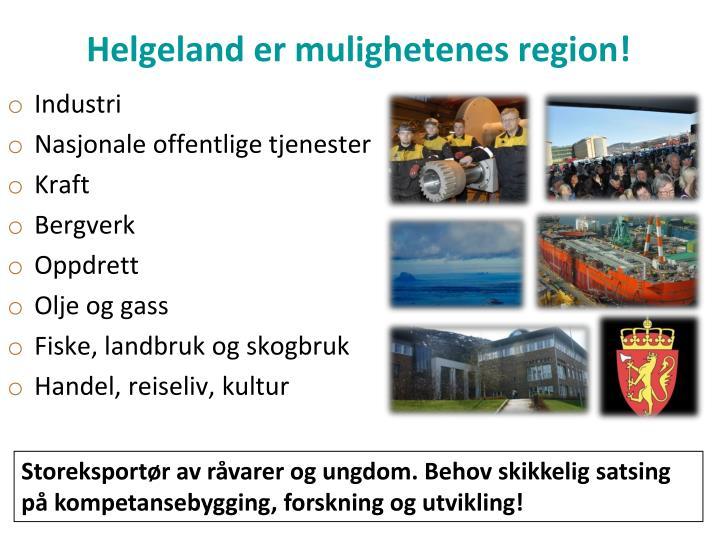 Helgeland er mulighetenes region!