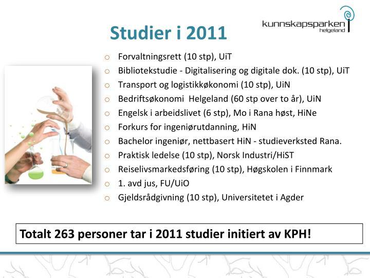 Studier i 2011