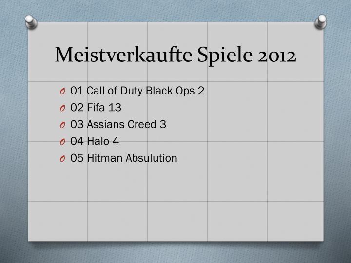 Meistverkaufte Spiele 2012